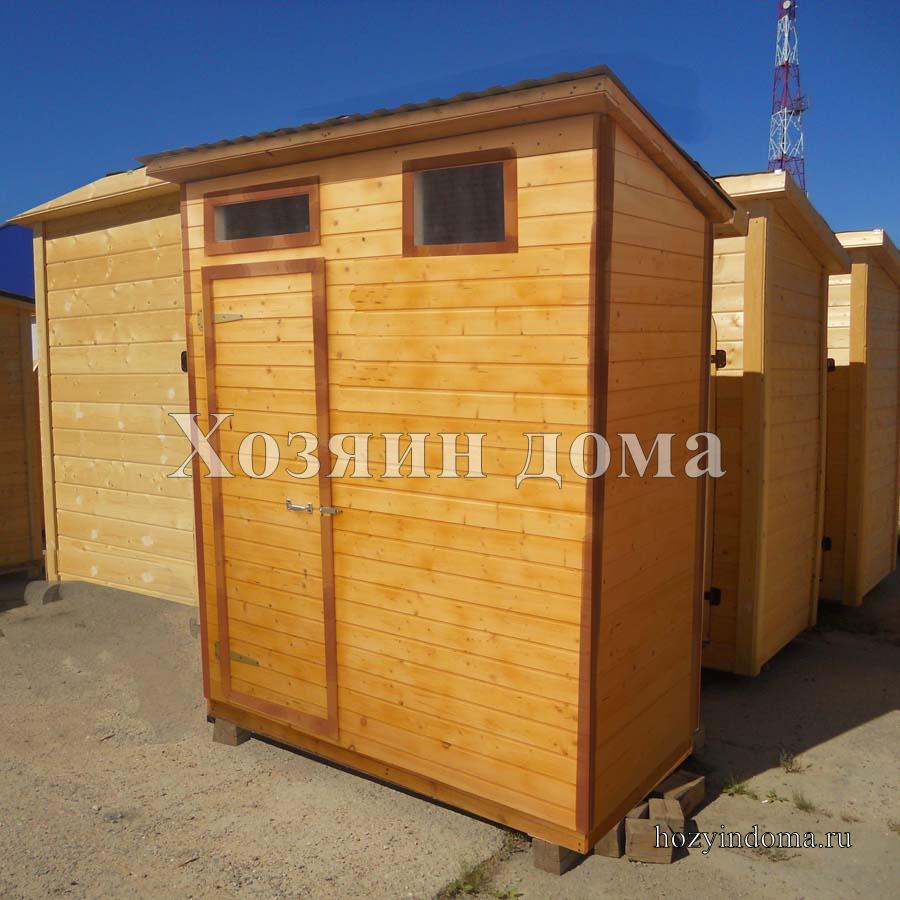 Деревянный душ для дачи с подогревом и раздевалкой